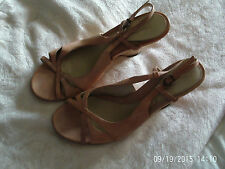 SIZE 8 PEACH WEDGE SANDALS, SIZE 8