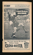 1968 VFL Football Record Fitzroy v North Melbourne July 20 Lions Kangaroos