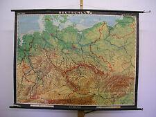 Schulwandkarte Wandkarte map Karte Deutschland Germany 1937 Grenze 129x98cm 1962