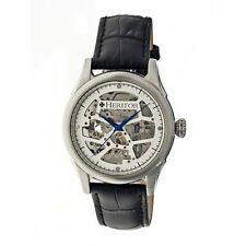 NEW Heritor HR1901 Men Automatic Nicollier Collection Leather Classy Dress Watch