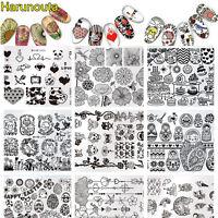Nail Art Stamping Plates Stainless Steel Stamp Template Harunouta 46patterns