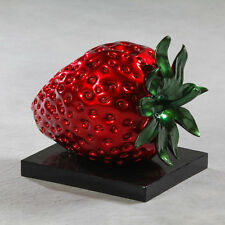Stunning Large Red strawberry ornament, table decor, sculpture, Unique statement