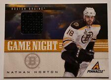 2011-12 Nathan Horton Game Used Jersey Card Boston Bruins Pinnacle #15