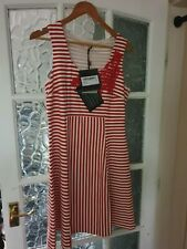 Scervino street Designer womens Dress, Red and White stripe UK 16-18 Euro 46