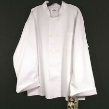 Dickies Unisex Classic Chef Coat Jacket 10 Button Long Sleeve White Xl Nwt