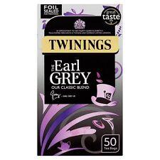 Twinings la Earl Grey 50 bustine di tè 125g UK Venditore Spedizione in tutto il mondo 321651