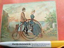 1 advertising trade card tricycle 1888 PARIS PUB Expo bicycle Humber BEESTON UK