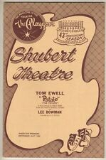 """Tom Ewell  """"Patate""""  TRYOUT  Playbill 1958  FLOP  Nancy Wickwire & Lee Bowman"""