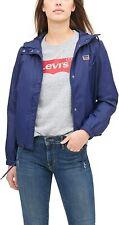NWT Levi's Women's Retro Hooded Navy Windbreaker Jacket LW8RN671