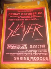 Slayer w/ Killswitch Engage * Rare Concert - Flyer * Springfield, MO 10/29/2004