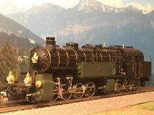 LEMACO N° HO-038/1 Locomotive Vapeur GT 2x4/4 5772 K.Bay.Sts.B. Brass bicolore