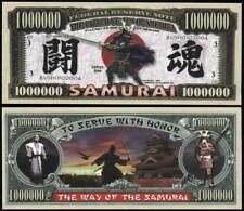 Samurai Warrior Million Dollar Bill - Lot of 2 Bills