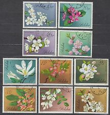POLAND 1971 USED SC#1860/69 Flowering trees and shrubs.