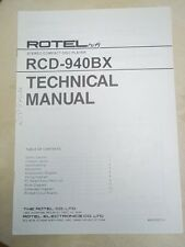 Rotel Service/Technical Manual~RCD-940BX CD Compact Disc Player~Original
