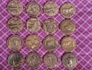 rare lot 16 medal médaille bronze salon concours agricole monnaie de paris