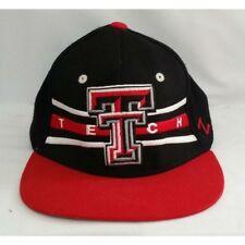 eeab8edbe37 Men s Texas Tech Black White Red Raiders Snap Back Ball Cap Hat Zephyr  Vintage