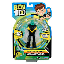 Ben 10 Deluxe Power Up Diamondhead Action Figure *BRAND NEW*