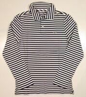 Vineyard Vines Boys Deep Bay Pima Cotton Jersey Stripe Long Sleeve Polo Shirt