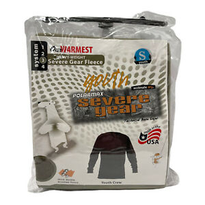 Polarmax System4 Fleece Youth Crew Long Sleeve Crew Top / Small / Olive