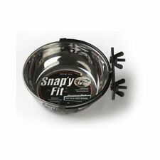 Stainless Steel Snap'y Fit Water and Feed Bowl 20 oz by Midwest