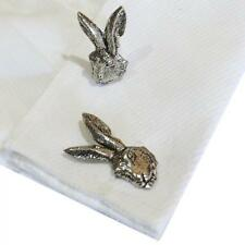 Cufflinks Handmade in England Hare Rabbit Silver Pewter Hares Head High Quality