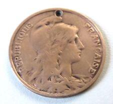 Pièce de 10 centimes Daniel Dupuis des années 1900 French Antique Coin 1900s