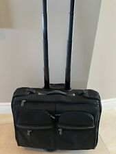 """Tumi 22"""" Rolling Garmet Bag Overhead Carry On Style Used Ber Little Minor Scuffs"""