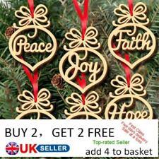 6Pcs Wooden Ornament Xmas Tree Hanging Tags Pendant Decor Christmas Decorations