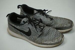 Nike Roshe NM Flyknit SE Mens Gray Shoes Size 11 816531