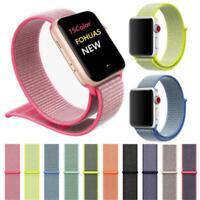 Nylon Woven Sport Loop Bracelet Watch Band Strap For Apple Watch 38mm 42mm