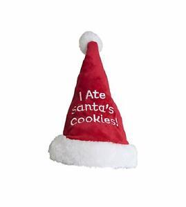Outward Hound Christmas, I Ate Santa's Cookies Hat, Pet Dog Accessories Medium