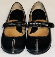 Born Womens Sz 6.5 Black Leather Casual Comfort Slip On Mary Jane Flats Shoes