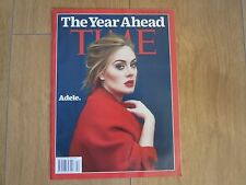 Time Magazine December 2015 Issue Adele,Stephen Curry,Jeh Johnson,Satya Nadella,