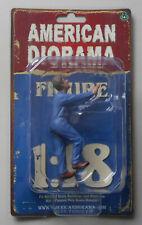 """MECHANIC DARWIN PUSHING AMERICAN DIORAMA 1:18 Scale Figurine 4"""" Male Figure"""