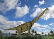 Lentikular - Wackelkarte: laufender Brachiosaurus - walking Dinosaurus