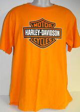 Harley Davidson T Shirt LARGE Dealer Ray Price Raleigh, NC orange