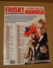 FRISKY AND MANNISH A5 FLYER - 2012 AUTUMN TOUR 'Extracurricular Activities'