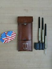 New listing Vintage Tru-Lon Darts - Set of 3 In Leather Case, Made in England