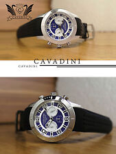 MAN'S WATCH CHRONOGRAPH Cavadini SPORT MODEL Blue Deep Ocean Stainless Steel