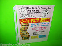 TWIN JOKER By BALLY 1972 ORIGINAL NOS BINGO PINBALL MACHINE PROMO SALES FLYER NM