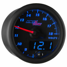 MaxTow 52mm Black & Blue Double Vision Volt Gauge - MT-BDV05
