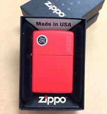 Zippo Logo Red Matte Windproof Lighter 233ZL New