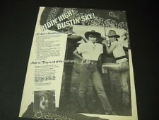 SWEETHEARTS OF THE RODEO Ridin' High - Bustin' Sky 1988 PROMO POSTER AD mint con
