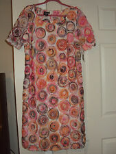 NWT Womens Multi-Color Sunset Boulevard Sharon Young Dress Size 16 Retail $168