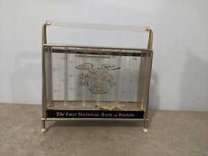 Vintage Mid Century Modern First Nation Bank Of Boston Coin Bank. Advertising