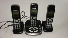 Panasonic Cordless Phone Answering System 3 Handsets Caller ID KX-TG4031 6 PLUS