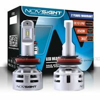 Pair Novsight H11 Car Headlight 60W 10000LM 6500K LED Lamp Kit White Bulbs Beam