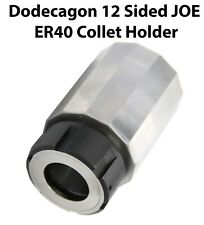 12-Sided JOE ER40 Collet Block Dodecagon eSpring Chuck Holder CNC Milling Lathe