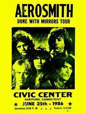 "Aerosmith Hartford 16"" x 12"" Photo Repro Concert Poster"