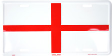 England Flag Embossed Metal License Plate English